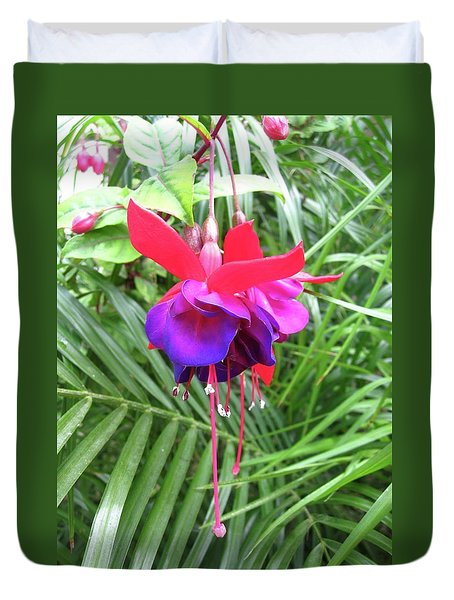 Duvet Cover featuring the photograph Fuchsia by Mary Ellen Frazee