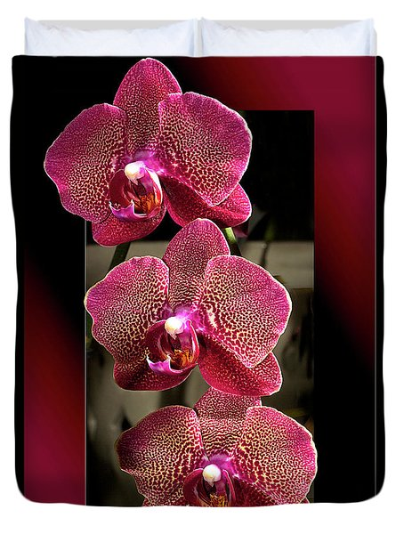 Fuchsia Orchids Oof Duvet Cover