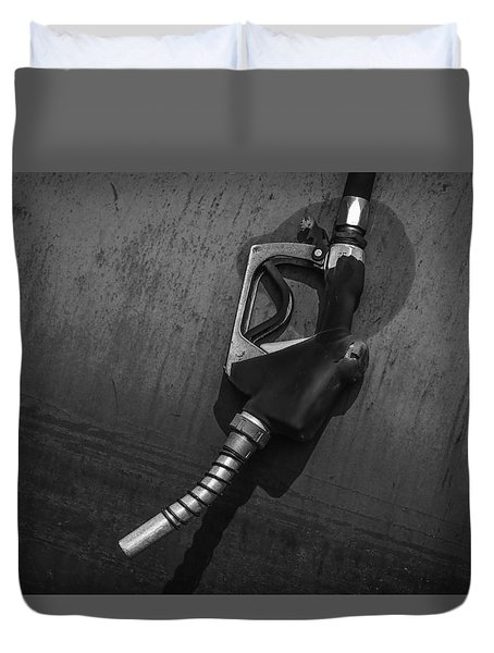 Fuel Nozzle Duvet Cover by Ray Congrove
