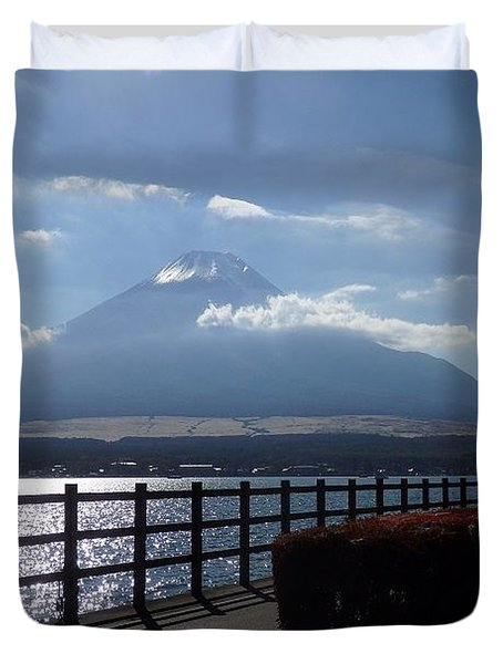 Fuji From Lake Yamanaka Duvet Cover