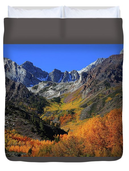 Full Autumn Display At Mcgee Creek Canyon In The Eastern Sierras Duvet Cover