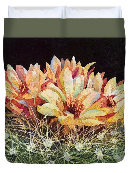 Duvet Cover featuring the painting Full Bloom by Hailey E Herrera