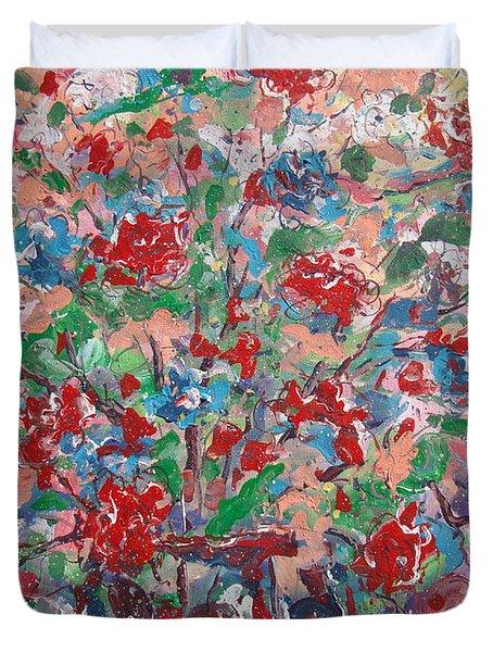 Full Bloom. Duvet Cover
