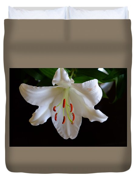 Full Bloom Lily Duvet Cover