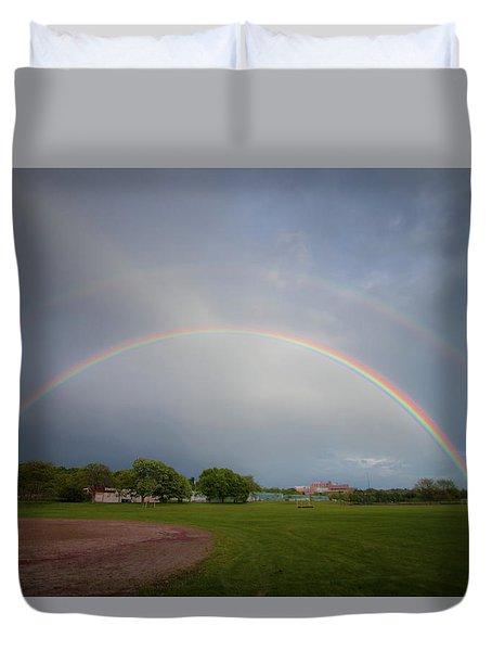 Full Double Rainbow Duvet Cover