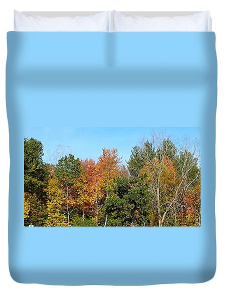 Full Fall Duvet Cover by Jana E Provenzano