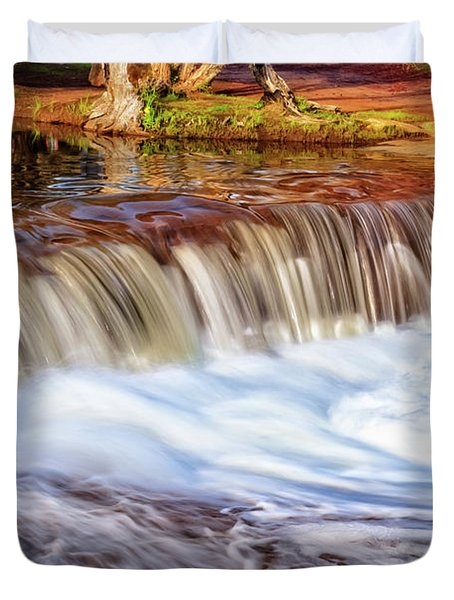 Full Flow, Noble Falls, Perth Duvet Cover