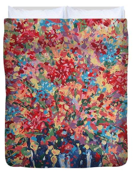 Full Flower Bouquet. Duvet Cover