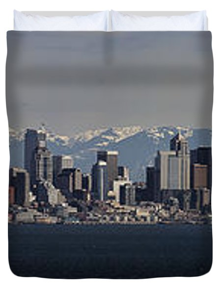Full Frontal Seattle Duvet Cover by James Heckt