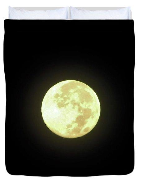Full Moon August 2014 Duvet Cover