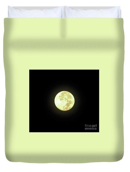Full Moon August 2014 Duvet Cover by D Hackett