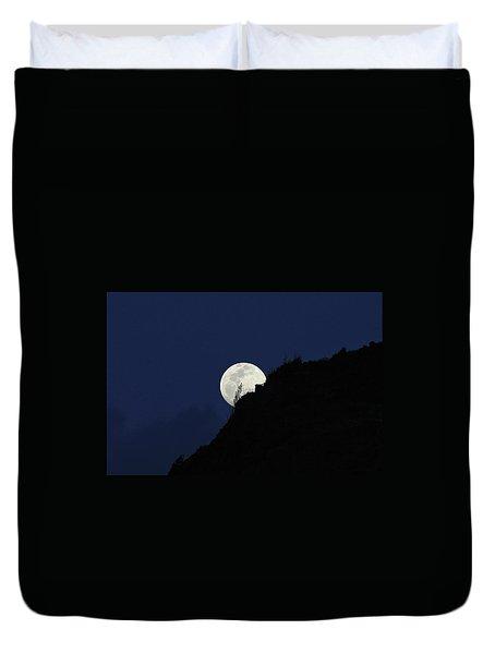 Full Moon Behind Makapu'u Duvet Cover