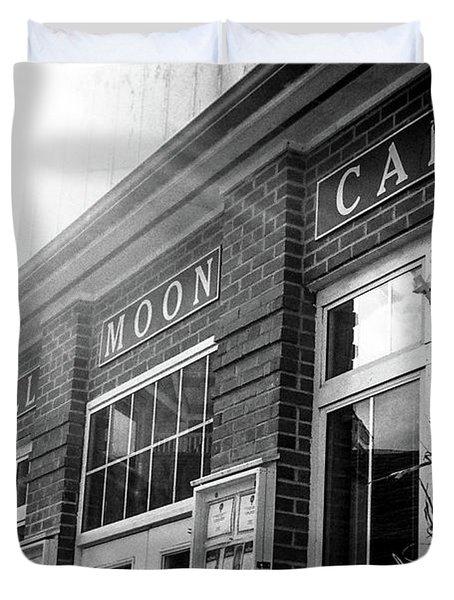Full Moon Cafe Duvet Cover