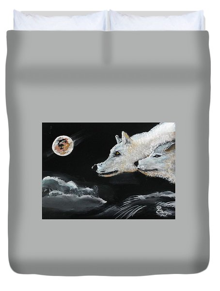 Full Moon Duvet Cover