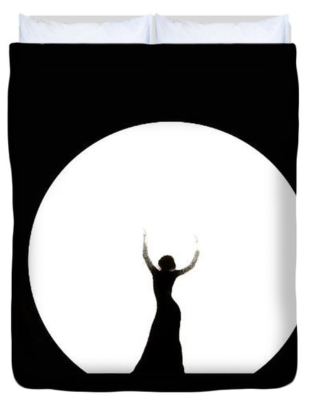 Full Moon Dance Duvet Cover