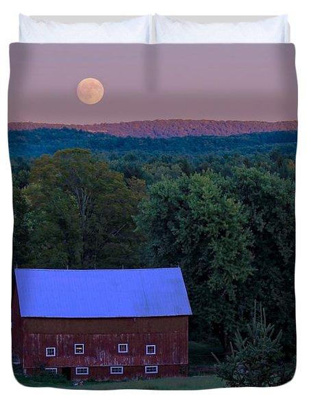 Full Moon From High Street Duvet Cover