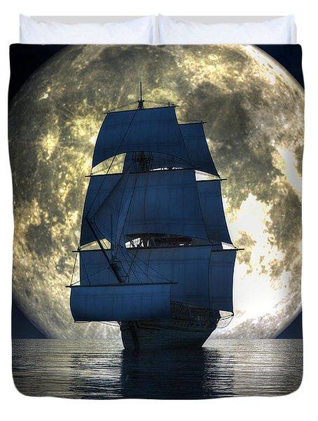 Full Moon Pirates Duvet Cover