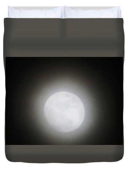 Full Moon Ring Duvet Cover by Kathy Long