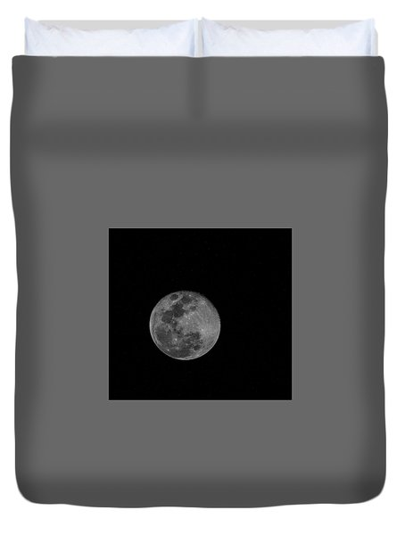 Full Moon Rising Duvet Cover