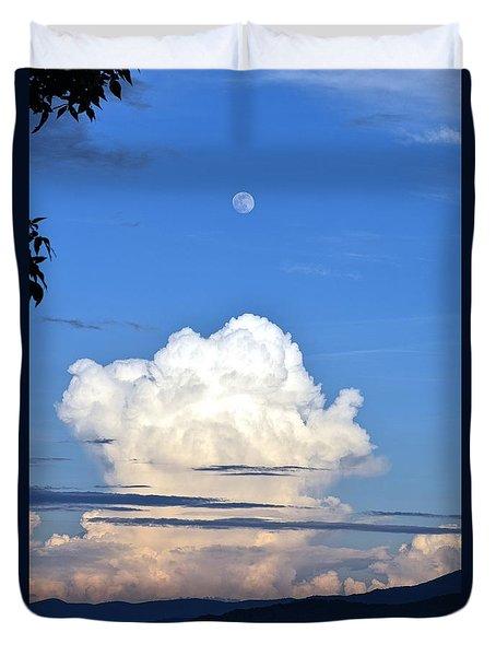 Full Moon Rising Over Blue Ridge Duvet Cover by Gary Smith