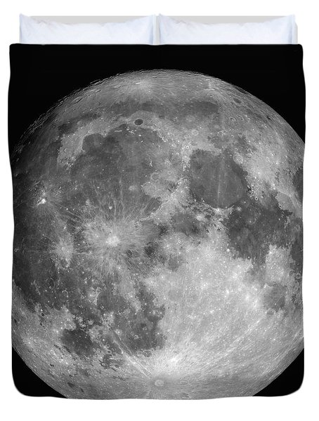 Duvet Cover featuring the photograph Full Moon by Roth Ritter