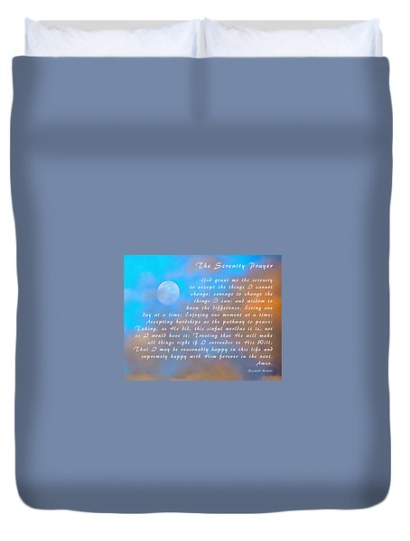 Duvet Cover featuring the photograph Full Moon Serenity Prayer Digital by Floyd Snyder