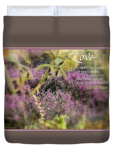 Duvet Cover featuring the photograph Full Of Hope by David Norman