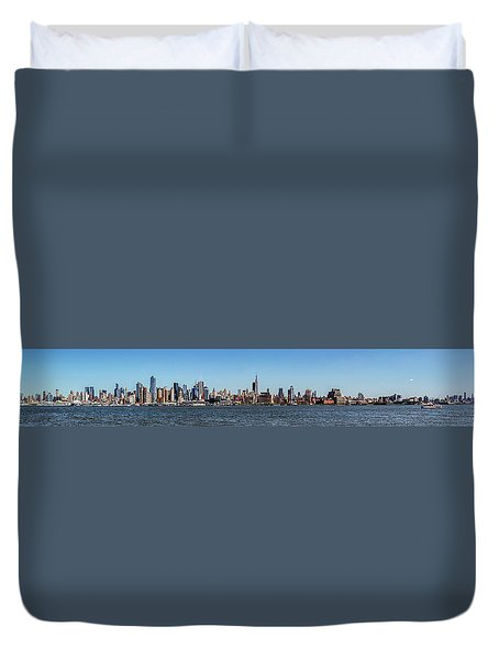 Full On New Yourk Duvet Cover by James Heckt