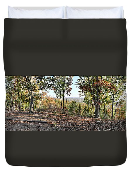 Full Panoramic View From The Summit Of Brown's Mountain Trail Duvet Cover