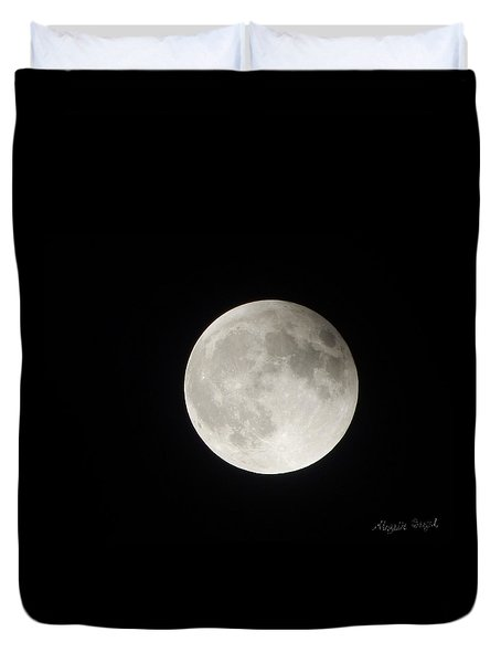 Full Planet Moon Duvet Cover