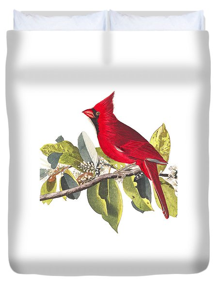 Duvet Cover featuring the photograph Full Red by Munir Alawi