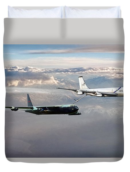 Duvet Cover featuring the digital art Full Service by Peter Chilelli