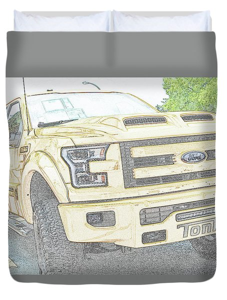Duvet Cover featuring the photograph Full Sized Toy Truck by John Schneider