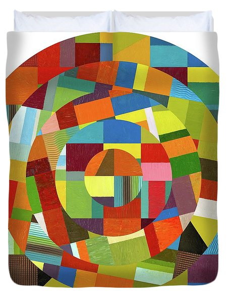 Duvet Cover featuring the painting Full Tilt by Michelle Calkins