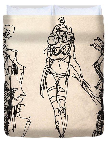 Fun At Art Of Fashion At Nacc Duvet Cover