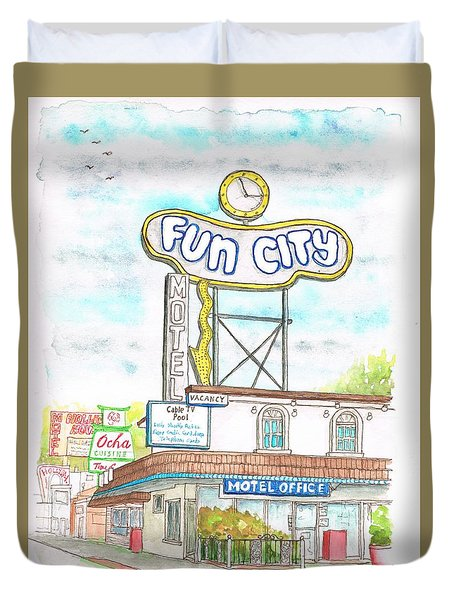 Fun City Motel, Las Vegas, Nevada Duvet Cover