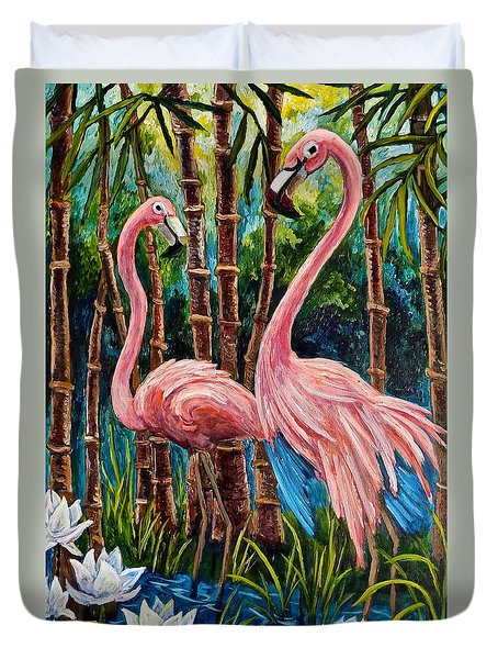 Fun Flamingos Duvet Cover