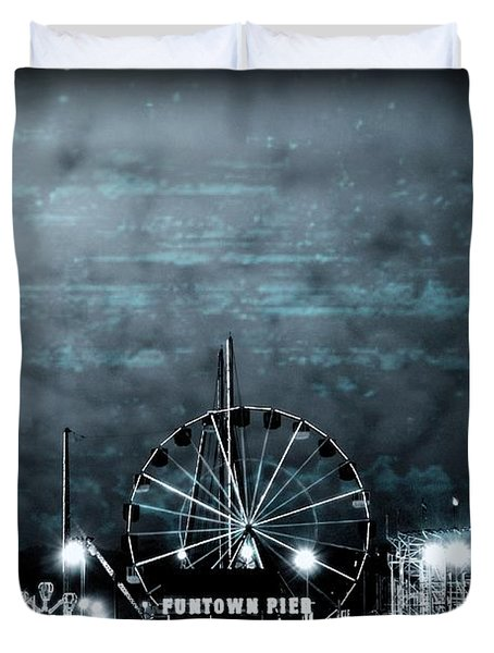 Fun In The Dark - Jersey Shore Duvet Cover