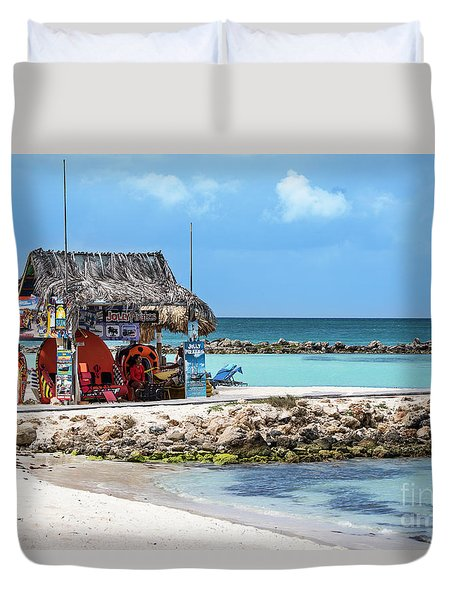 Fun In The Sun Duvet Cover by Judy Wolinsky