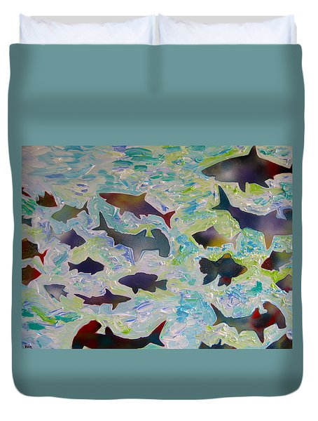 Fun In The Water Duvet Cover