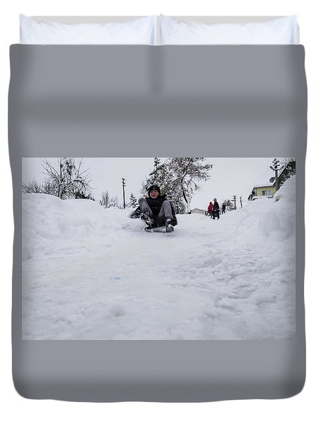Fun On Snow-3 Duvet Cover