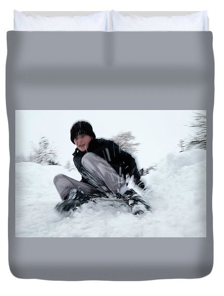 Fun On Snow-4 Duvet Cover