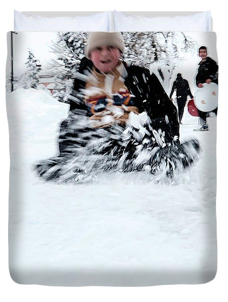 Fun On Snow-5 Duvet Cover