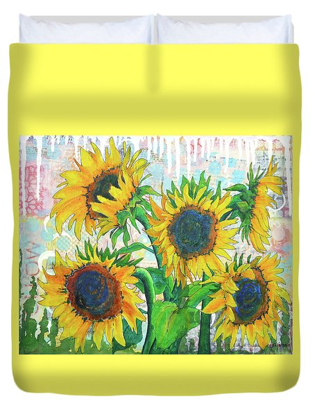 Funflowers Duvet Cover