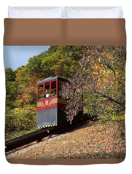 Funicular Descending Duvet Cover by Cindy Manero