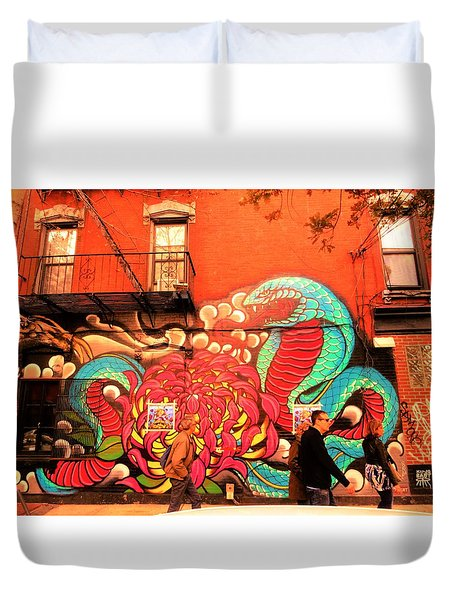 Funky Brooklyn Fire Escape  Duvet Cover