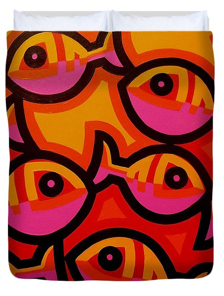 Funky Fish Iv Duvet Cover
