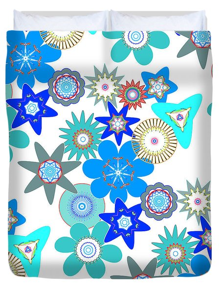 Funky Flower Pattern Duvet Cover by Methune Hively