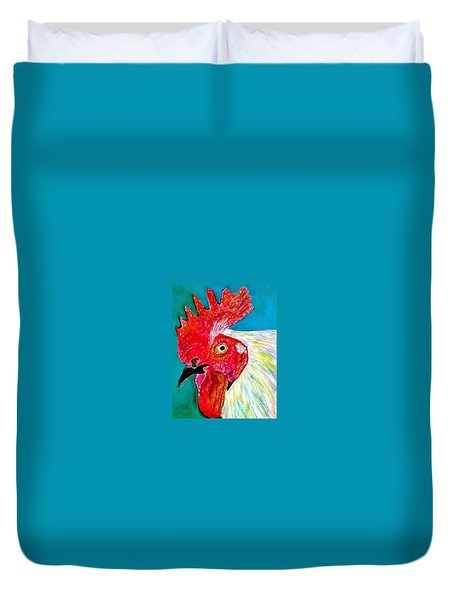 Funky Rooster Duvet Cover