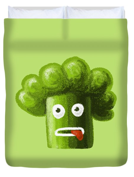 Funny Broccoli Duvet Cover